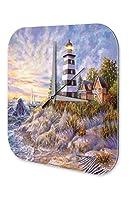 壁時計 wall clock Oceans Decoration Sailboats lighthouse houses beach dunes Acryl Plexiglass