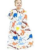 エルフ ベビー(Fairy Baby)ベビースリーパー 着る布団 寝袋秋冬用 防寒着長袖 2Way 恐竜柄 75cm