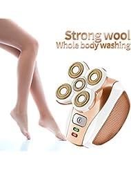 5頭の痛みのない電気脱毛器 乾湿 女性シェーバー 女性の体の女性の脱毛トリマー脱毛器 顔のために、 ビキニ、 ボディ、脚、脇の下、USB充電