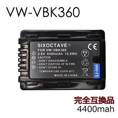 str 残量表示可能 VW-VBK360-K 互換バッテリー充電池2個と充電器プレミアムチャージャーVW-BC10-K [純正互換とも対応]の3点セット HDC-TM70/HDC-TM60/HDC-HS60/HDC-TM35/HDC-TM90/HDC-TM95/HDC-TM85/HDC-TM45/HDC-TM25/HC-V700M/HC-V600M/HC-V300M/HC-V100M 対応