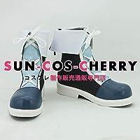 【サイズ選択可】コスプレ靴 ブーツ K-1874 VOCALOID ボーカロイド 冬の夜ミク 初音ミク miku 女性22.5CM