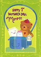 ベビーブルーでの供給おむつバッグ: Mommy 's 1st–Designer Greetings母の日カード