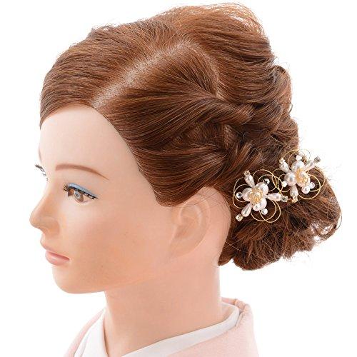 【留袖 髪飾り】〔黒留袖・色留袖・訪問着などの髪飾り 和装用髪飾り 1CJ0135000/結婚式用髪飾り/かんざし/日本製 …
