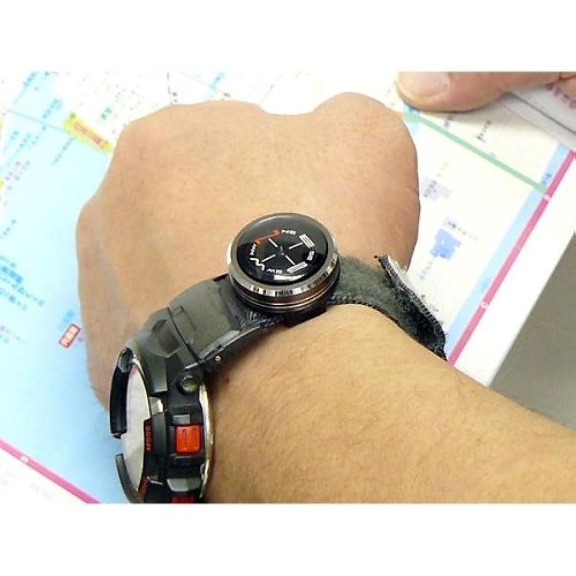 ビルマ花弁無人10気圧防水?アルミボディのリストコンパス G-800メタリックグレー (CK-G800)