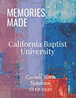 Cornell Notes Notebook: Large College Ruled Medium Lined Cornell System California Baptist University