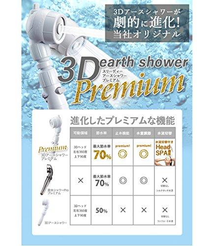 Arromic アラミック 3Dアースシャワープレミアム 3D-B4A ホームセンターヤマユウオリジナル ヘッドスパ機能付き節水シャワーヘッド