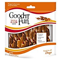 Good'N'Fun P-94187 Triple Flavor Kabob Dog Chews One Size [並行輸入品]