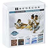 Bedecor Mattress Protector - 100% Waterproof, Hypoallergenic - Premium Fitted Cotton Terry Cover - King (72 in x 80 in)