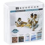 Bedecor Mattress Protector - 100% Waterproof, Hypoallergenic - Premium Fitted Cotton Terry Cover