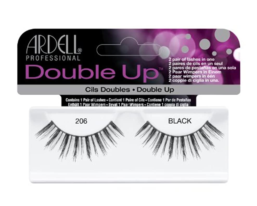 プレビュー国歌不誠実Ardell Double Up #206 Faux Cils, Black