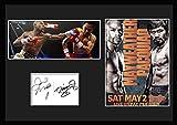 ボクシング『Mayweather, Jr. vs. Manny Pacquiao』 フロイド・メイウェザー・ジュニア 対 マニー・パッキャオ戦/サインプリント&証明書付きフレーム-1 [並行輸入品]