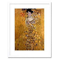 Cultural Gustav Klimt Bloch Bauer Portrait Secession Abstract Art Framed Wall Art Print 文化ポートレート抽象壁