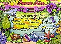 Puerto Rico Caribbean Fridge Collector's Souvenir Magnet 2.5 X 3.5 by World By Shotglass