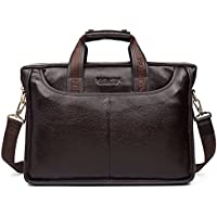 BOSTANTEN Leather Briefcase Laptop Messenger Business Bags for Men