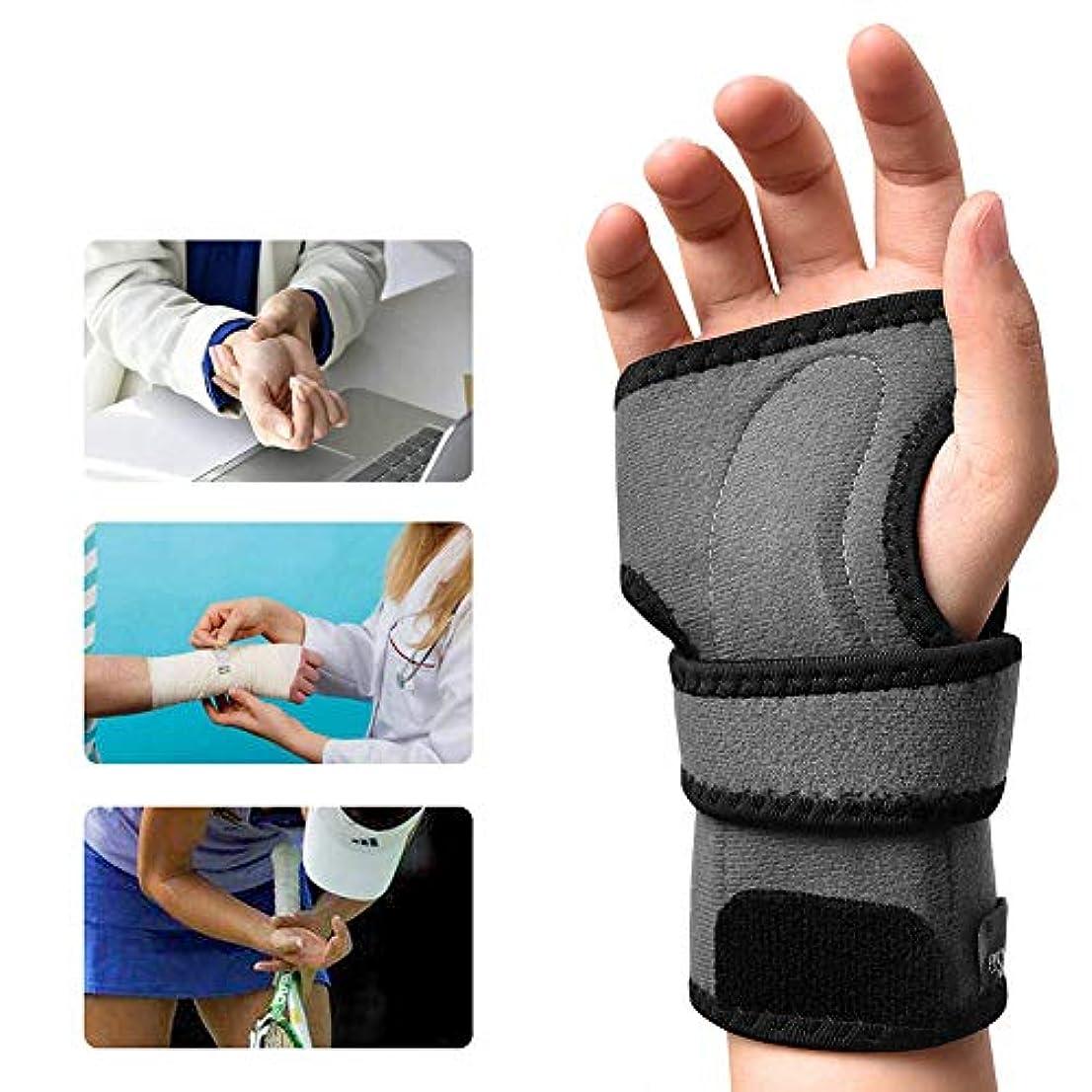 ねじれギャラリー期待手首 固定 サポーター 、手根管副木シリコンパームパッド痛み緩和、腱炎捻rain男性と女性の関節炎,Right,M