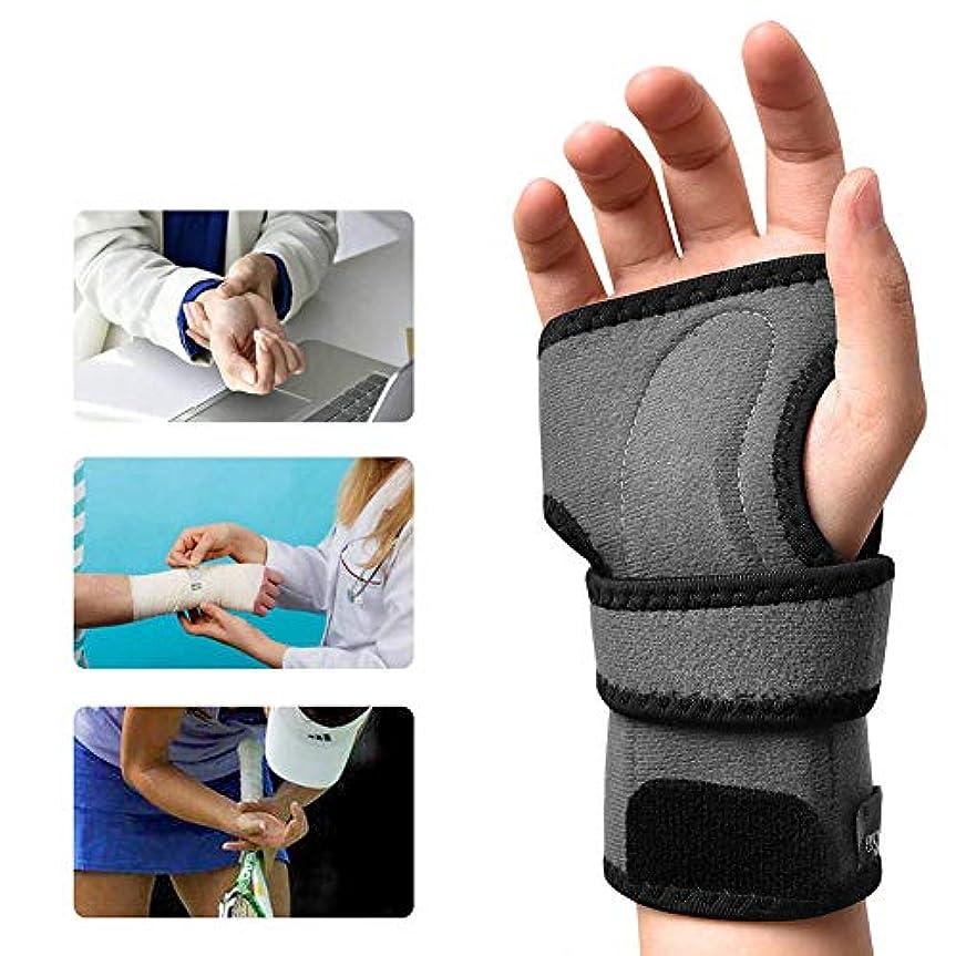どうやって開示する勘違いする手首 固定 サポーター 、手根管副木シリコンパームパッド痛み緩和、腱炎捻rain男性と女性の関節炎,Right,M
