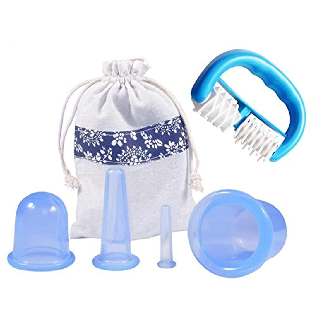洋服グリーンランド支出Ejoyousカッピングセラピーセット、関節と筋肉痛救済、痛み緩和のためのシリコンアンチセルライトフェイシャルとボディマッサージカッピングカップ