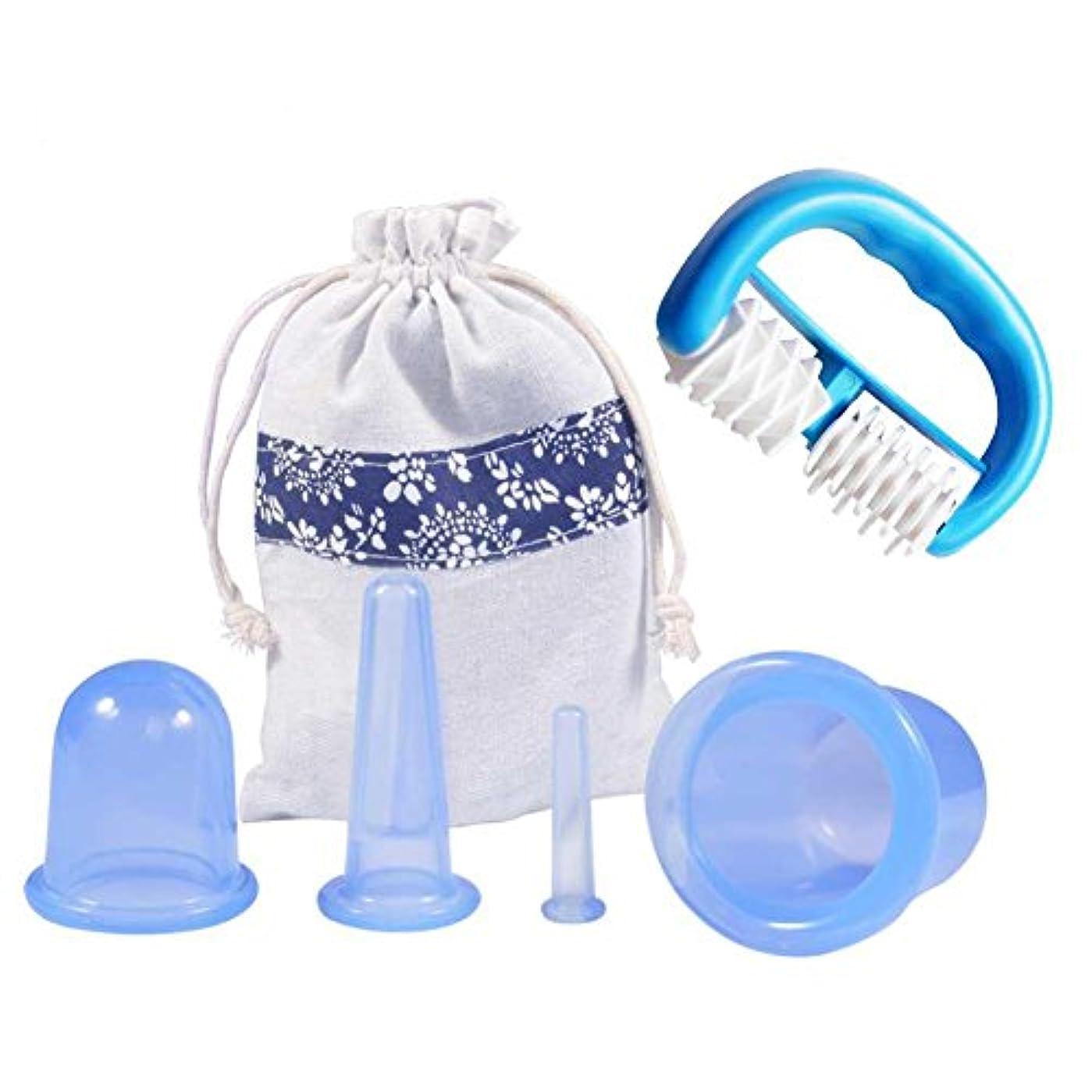 縁石学士舗装Ejoyousカッピングセラピーセット、関節と筋肉痛救済、痛み緩和のためのシリコンアンチセルライトフェイシャルとボディマッサージカッピングカップ