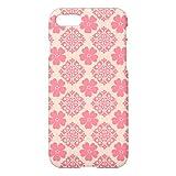かわいらしいピンクの花のダマスク織パターンiPhone7ケース 専用 スマホケース 携帯電話ケース おしゃれ おもしろ かわいい