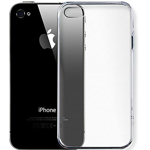 Hommy   衝撃吸収 落下防止 電波影響なし バンパーケース 保護カバー 携帯カバー 透明 1個入り   iPhone4 ケース / iPhone4S ケース に対応用 TPU クリア ソフト
