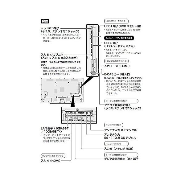 シャープ 40V型 4K対応液晶テレビ AQ...の紹介画像10
