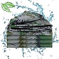 タープヘビーデューティ防水、ポリターポリンカバー、グロメット付き補強コーナー防水キャンバス引き裂き耐性厚いターポリンタープ15.7Mil,13.5x15ft/4.5x5m