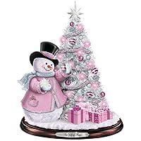 トーマス?キンケード Tabletop Christmas Tree スノーマン 卓上クリスマスツリー Bradford Exchange社【並行輸入】
