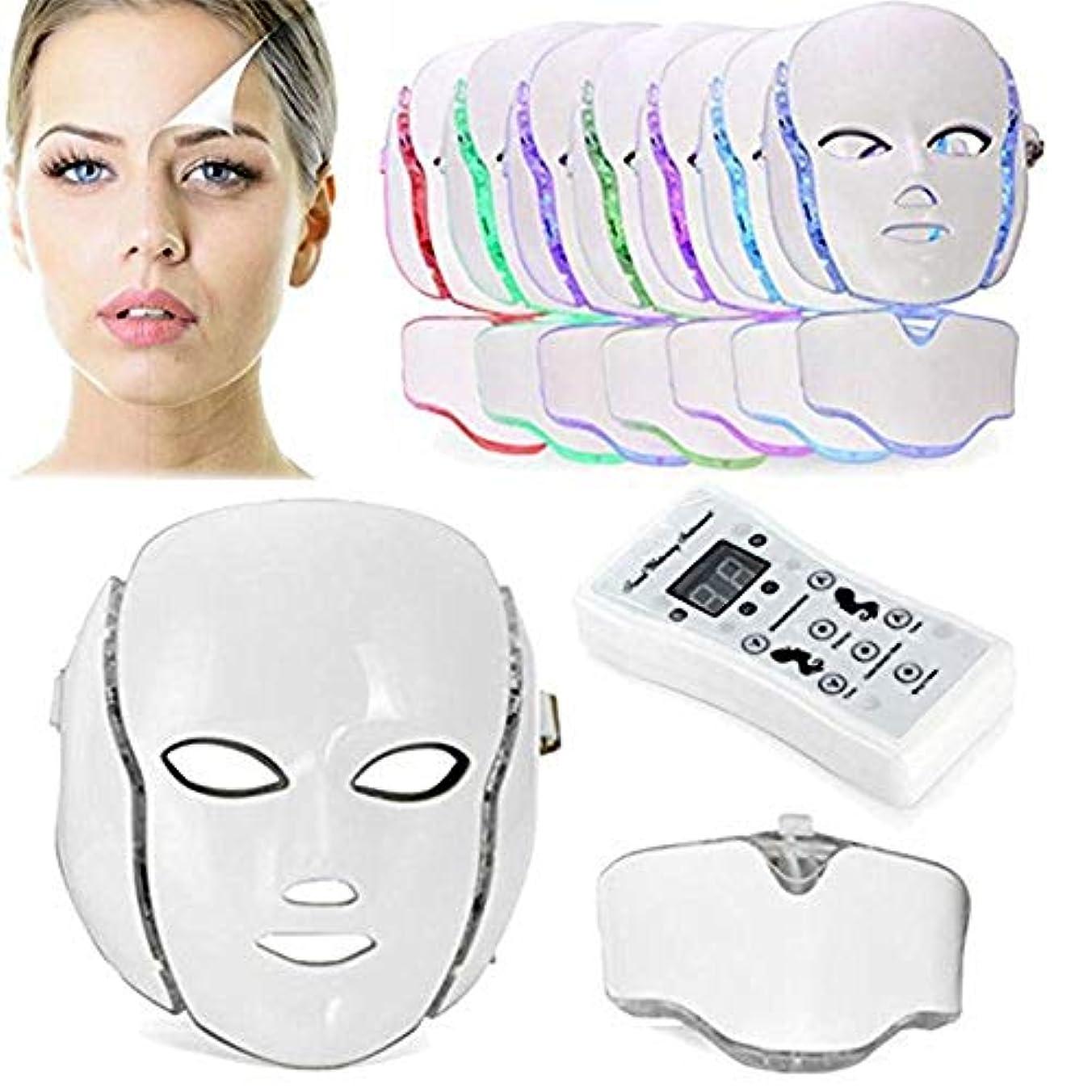 買う壁紙皮肉7色PDT光子LEDの顔のマスクの皮の若返りのしわの取り外しの電気反老化LEDのマスクのアクネ、しわの取り外しのきつく締まること及び白くなること