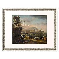 Weenix, Jan,ca. 「Roman landscape with shepherds.」 額装アート作品