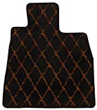 Elgan(エルガン) フロアマット(1台分) ドレスアップシリーズ ダイヤライン柄 オレンジ 三菱 i-MIEV 22.04- HA3W     G/M