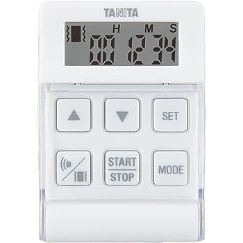 TANITA バイブレーションタイマー 24時間計 クイック ホワイト TD370N-WH