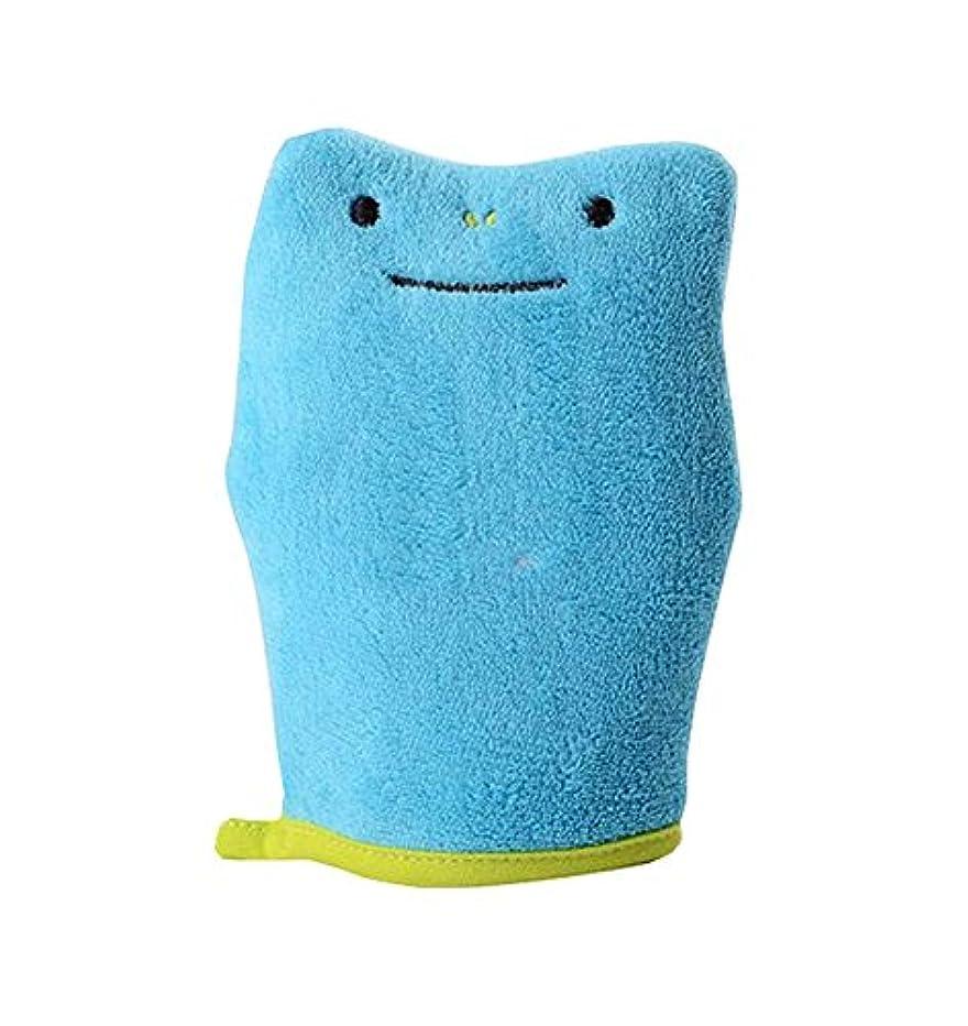 従順な使用法承知しましたバスブラシスポンジバスタオル製品子供バススポンジ、ブルー