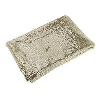 D DOLITY キラキラ 3mm スパンコール ファブリック 布 生地 衣装 衣料品 アクセサリー ライトゴールド