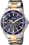 ゲス GUESS Men's U0172G3 Two-Tone Rose Gold-Tone Watch with Blue Mutli-Function Dial 男性 メンズ 腕時計 【並行輸入品】