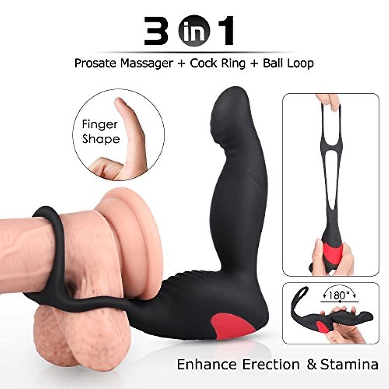 異常な正しいコントロール柔軟なリングSlient Softを備えたEletric Massager Men充電式刺激装置マッサージ玩具 [アダルト]