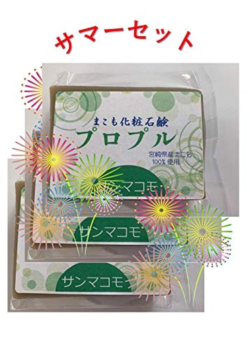 連合お尻パノラマまこも化粧石鹸 プロプル 90g 3個セット
