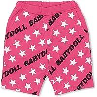 ベビードール 斜めロゴハーフパンツ 子供服 140cm ピンク