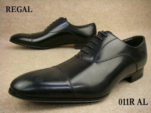 011R AL B ブラック メンズ フォーマル ストレートチップ ビジネスシューズ リーガル