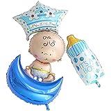 パーティーパーク ベビーシャワー ご出産 赤ちゃん お祝い 男の子 女の子 可愛い バルーン 装飾 お誕生日 洗礼 パーティー セット販売 単品販売 選べる(デザイン) 行事 ガスなし (B)