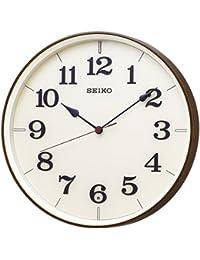 セイコー クロック 掛け時計 電波 アナログ 濃茶 木目 模様 KX221B SEIKO