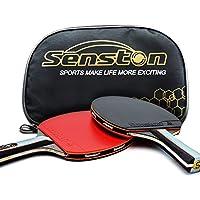 ITTF卓球ラケットバットセット、2つのバットを持つピンポンパドル(シェイクハンドラケット)