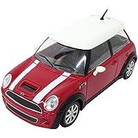ミニカー ブラーゴ 1:24 ミニクーパー S レッド 200-595