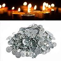 キャンドル 芯 座金 約100個セット ろうそく 芯 基盤 蝋燭 キャンドル作り 金具 直径12.5mm