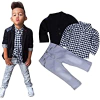 DaySeventh Boys' 1Set Business Suit+Shirt Tops+Trousers Children Clothes Outfits