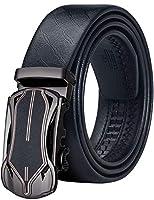 Barry.Wang 男性 ファッション ベルト 自動バックル 調整が簡単 本当の 牛革 耐摩耗性 切り取り可能 ビジネス ベルト