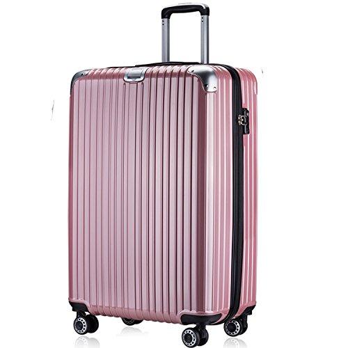 OTT スーツケース 超軽量 TSAロック搭載 ファスナータイプ(M,ローズゴールド)...