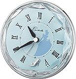 ( リズム時計 ) DISNEY / シンデレラ ちょっぴり大人デザインのプリンセスシリーズ 電子音 キャラクター 目覚し 時計 4SE546MC04