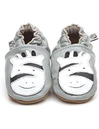 Soft Leather Baby Shoes Zebra [ゼブラソフトレザーベビーシューズ] 18-24 months (15 cm)