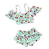 (ココイチヤ)COCO1YA子供水着キッズ女の子セパレート120130140cm子供水着2点セット女の子みずぎ(XS,ブルー)
