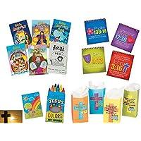 Christianアクティビティfor Kids : Bibleアクティビティパッド、ステッカー本、クレヨン、ギフトバッグ( 12キット)